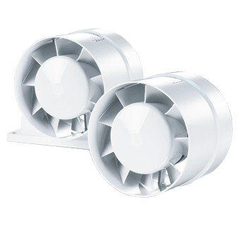 Axial inline fans