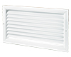 ONF / ONFS series single-row grilles with fixed vanes