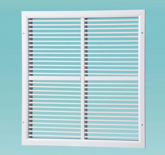ONK series single-row grilles with fixed vanes, sectional