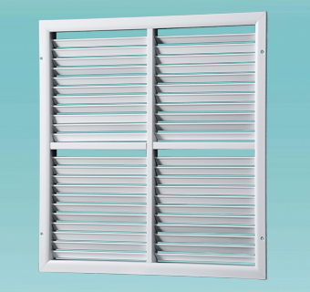 ORK series single-row grilles with adjustable louvers, sectional