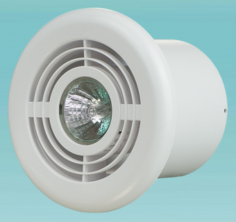Supply and exhaust plastic diffusers with light FL 100 series