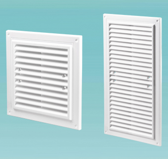 Supply and exhaust grilles single-element MV series (from MV 150х150 to МV 350х350)
