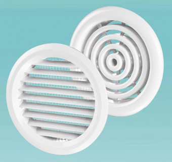 Supply and exhaust round grilles MV 80 bV, MV 81 bV series