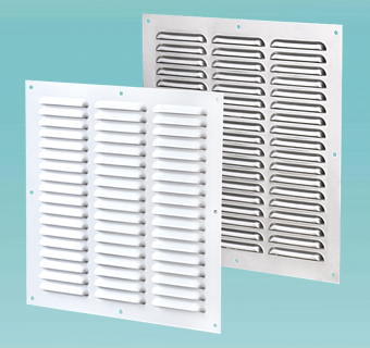 Supply and exhaust multiple-row metal grilles MVMP series