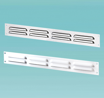 Supply and exhaust slot metal grilles MVMP series