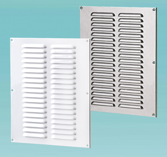 Supply and exhaust multiple-row metal edge-raised grilles MVMPO series