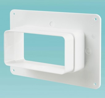 Wall plate with flange