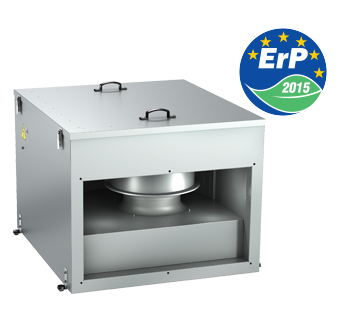 Inline centrifugal sound- and heat insulated fan VENTS VKPI EC series