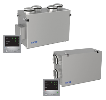 VENTS VUT mini EC Comfo air handling units with heat recovery