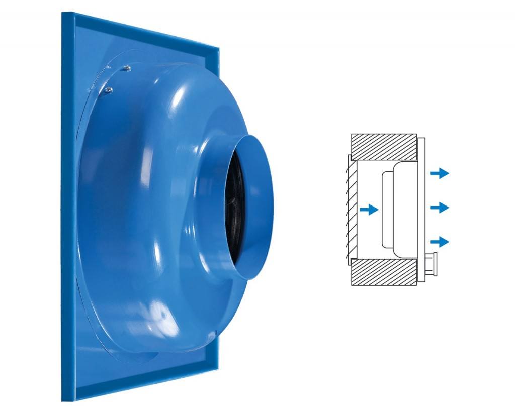 Supply fan for flush wall mounting (VC-PK).
