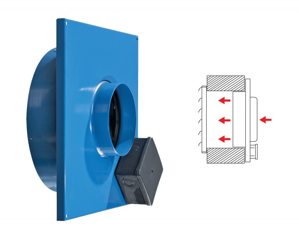 Exhaust fan for flush mounting (VC-VK).
