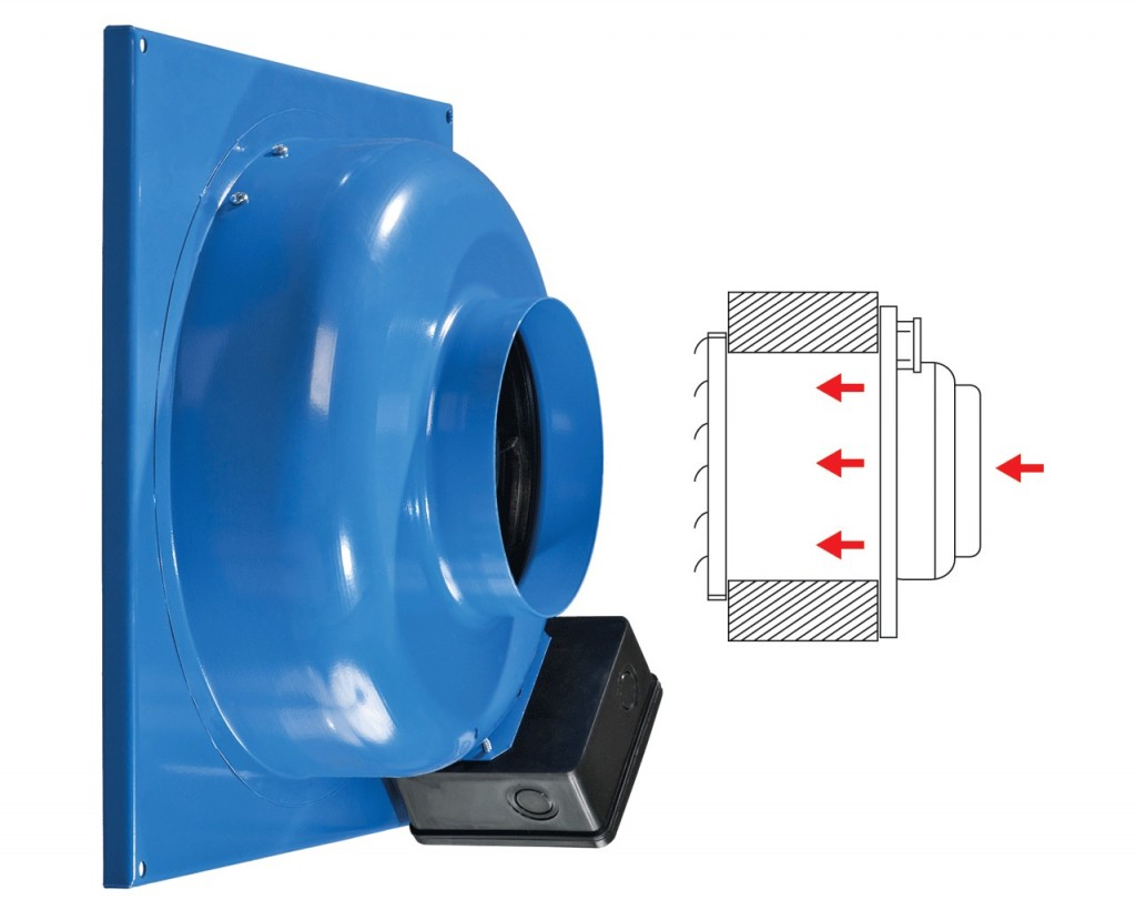 Exhaust fan for surface wall mounting (VC-VN).