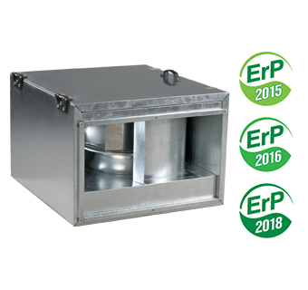 Inline centrifugal sound- and heat insulated fan VENTS VKPI series