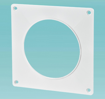 Wall plate for round ducts
