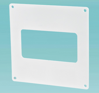 Wall plate for flat ducts