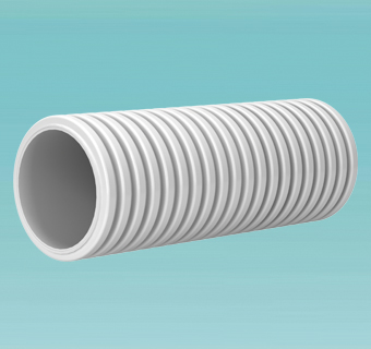 Round duct with antistatic treatment