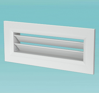 Wall-mounted metal grille