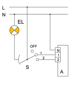 connection of basic two-speed fan models